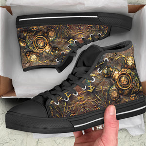 Steampunk Turtle High Cut Shoes - Hello Moa