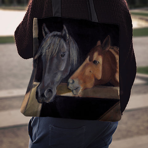 Stable Horses Cloth Tote Bag