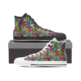 Cartoon Cat High Tops (Women's)