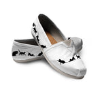 Black & White Cat Casuals (White)