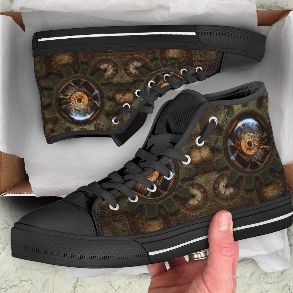 Wire Cog Steampunk Canvas Shoes - Hello Moa