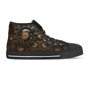 Wire Cog Steampunk Canvas Shoes