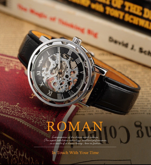 """The Roman"" Skeleton Watch - Hello Moa"