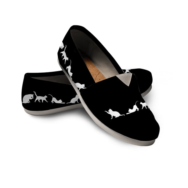 Black & White Cat Casuals (Black)