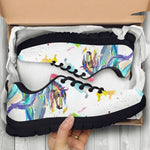 Kids Watercolor Horse Sneakers - Hello Moa