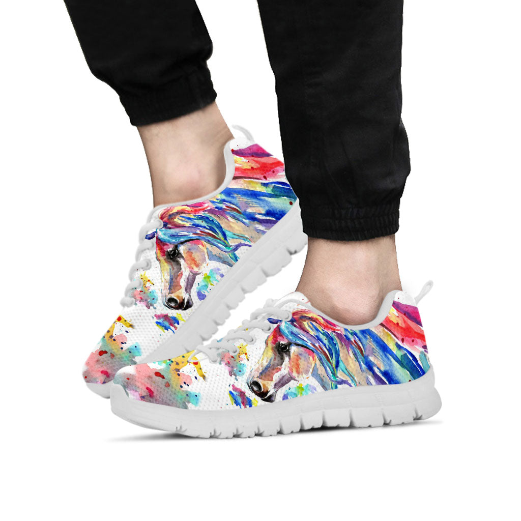 Watercolor Horse II Sneakers
