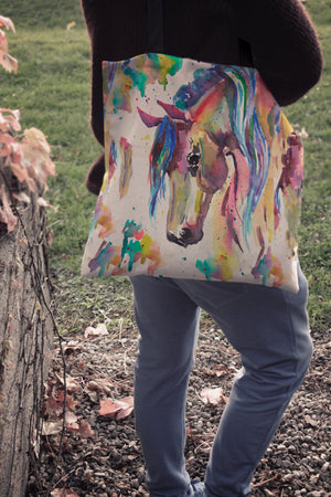 Watercolor Horse II Cloth Tote Bag