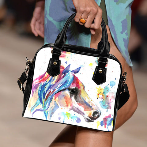 Watercolor II Horse Handbag
