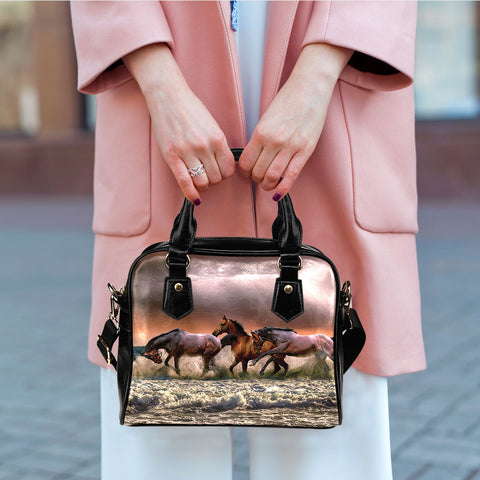 Horses in Waves Handbag