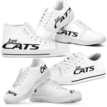 Love Cats Shoes (White)