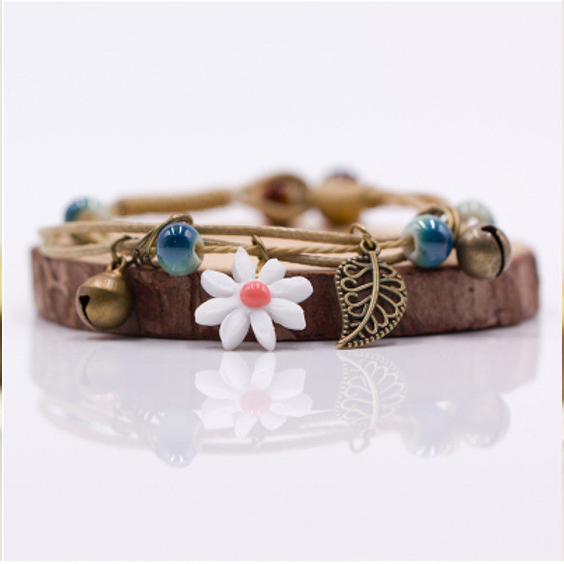 Ceramic Flower Bracelet - Hello Moa