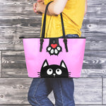Hanging Cat Large Tote Bag - Hello Moa
