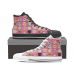 Pink Cat Faces High Tops (Women's)