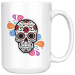 Sugar Skull Droplet Coffee Mug