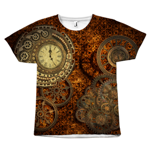 Steampunk Bronze Clock Tee - Hello Moa