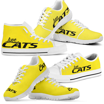 Love Cats Shoes (Yellow-Black)
