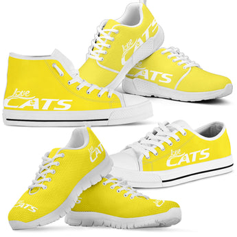 Love Cats Shoes (Yellow)