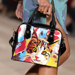 Red Cat Shoulder Handbag - Hello Moa
