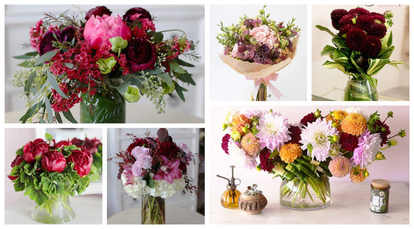 burgundy-flower-arrangements