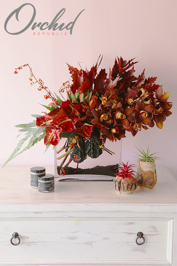 Fiery Fall Flowers