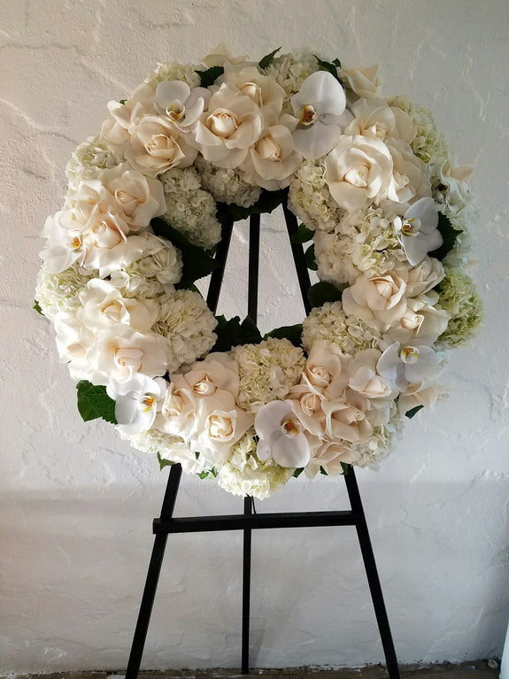 zz White Wreath