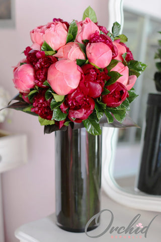Rose Wine Peonies