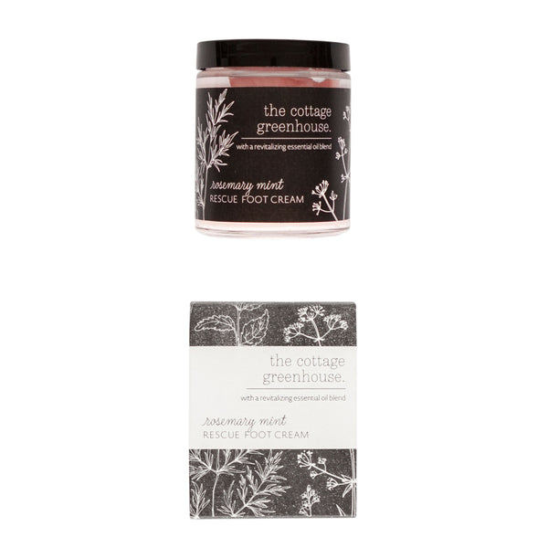 Cottage Greenhouse - Rosemary Mint Rescue Foot Cream