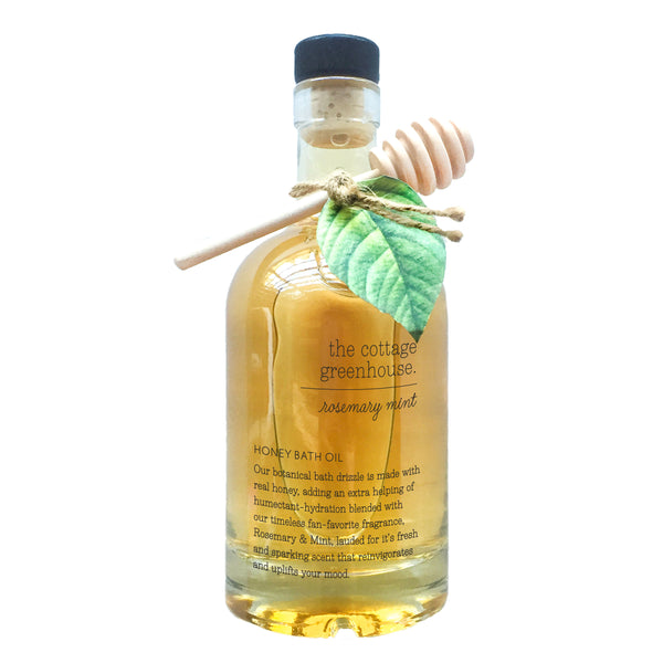 Cottage Greenhouse - Rosemary Mint Honey Bath Oil