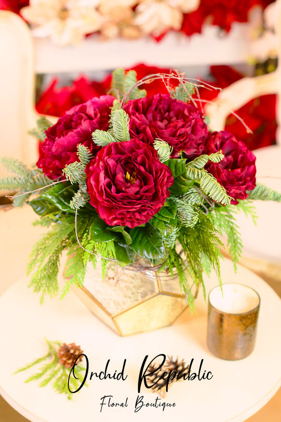 Prancer's Christmas Peonies