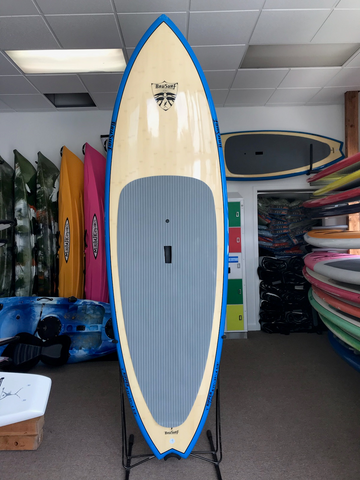 "8'11"" Blue Bamboo Ripper by Brusurf"