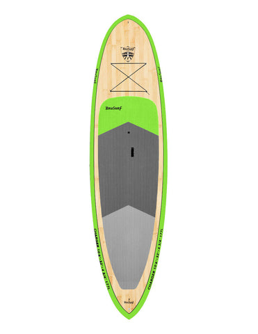 10'6″ Brusurf Charger Bamboo SUP Green
