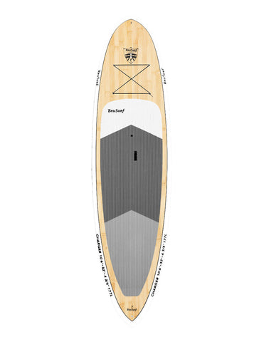 10'6″ Brusurf Charger Bamboo SUP White