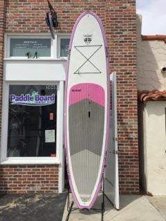 11' BruSurf Paddle Board - Pink and White