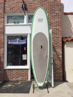 10'6 J-Bay Paddle Board - Green and White