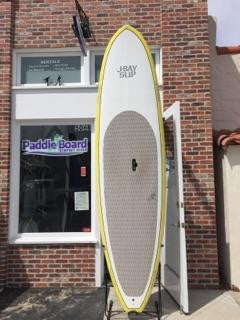 10'6 J-Bay Paddle Board - Yellow and White