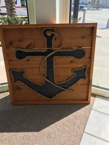 "Framed Anchor Artwork 25"" x 24"""