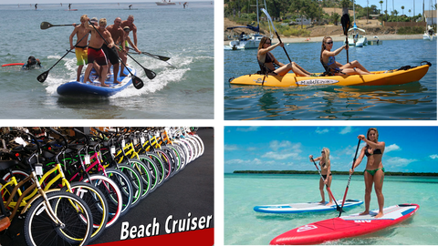 Unlimited Paddleboard, Kayak, Bike Rentals
