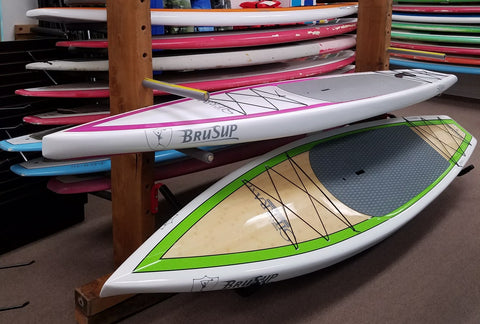 12'6″ Sierra 29″ Pink and White Paddleboard - BruSurf