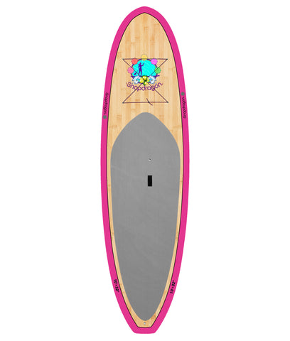 10' Pink Bamboo Snapdragon Paddleboard Package - BruSurf
