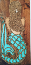 "Vertical Mermaid Artwork 35"" x 17"""