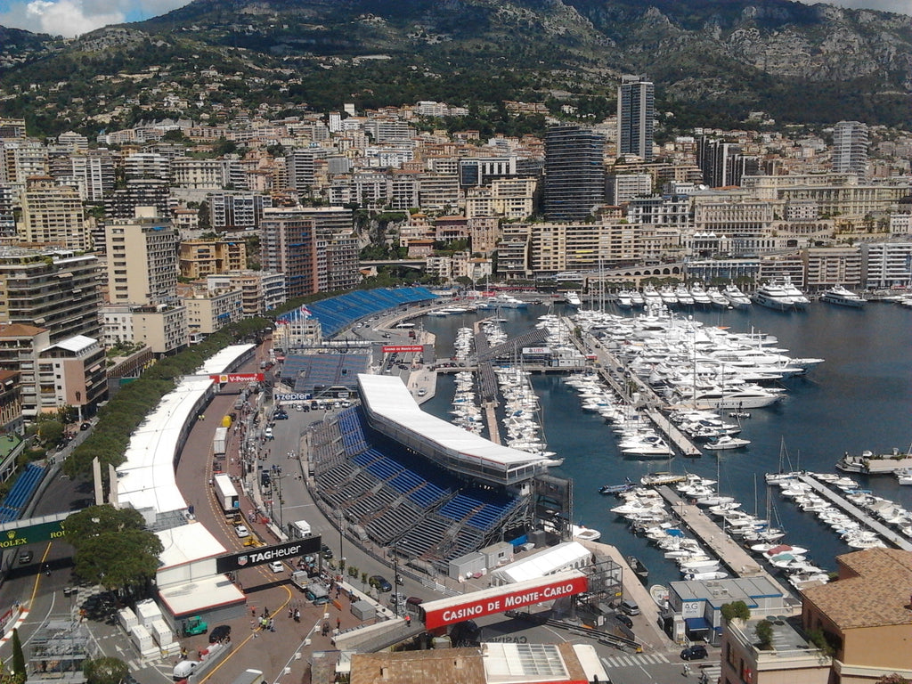The Monaco Grand Prix from the deck of a megayacht