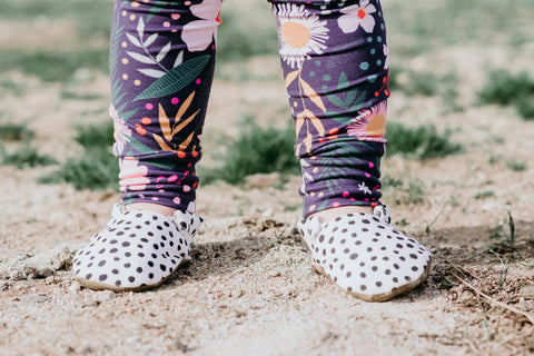 Pebble Dot Washable Vegan Baby Shoes that don't fall off