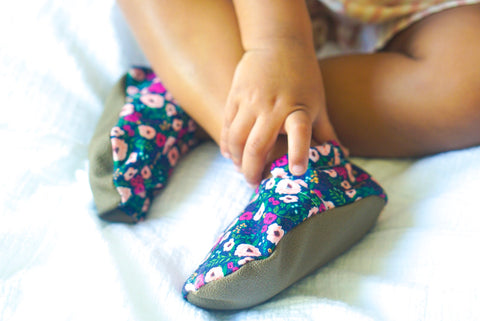 Blush Flowers Soft Sole Barefoot Baby Shoes