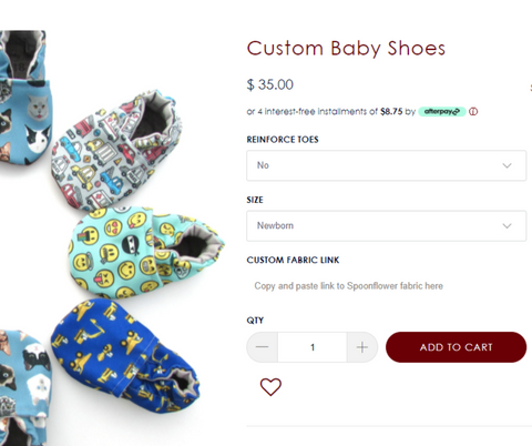 Custom Cabooties Baby Shoes