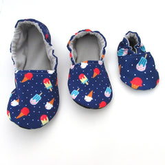 Red White and Blue Ice Cream Slippers and Toddler Shoes