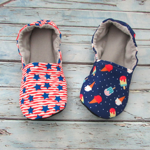 Red, White, and Blue Cabooties Baby, Youth, and Adult Shoes