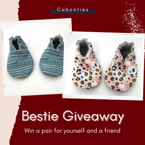 Enter to win a pair of Cabooties washable vegan baby shoes that don't fall off