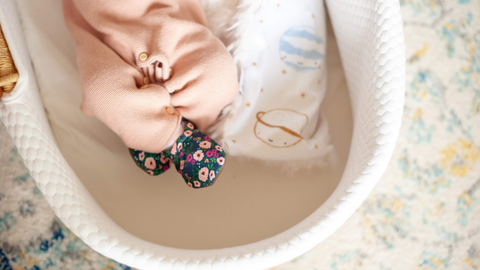 Blush Flowers Best Soft Sole Washable Baby Shoes That Don't Fall Off For Girls