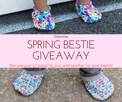 enter two win two pairs of Spring Cabooties Baby Shoes