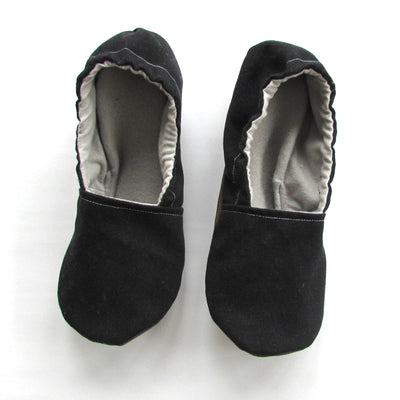 Black Brushed Denim Baby Slipper Set - Mommy and Me - Baby Shower Gift